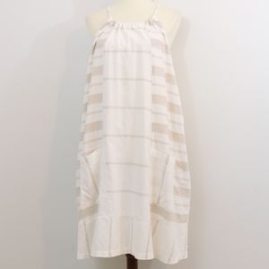 Old Navy Cotton Embroidered Striped Dress